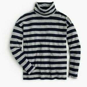 J Crew Deck-striped Turtleneck T-shirt XS